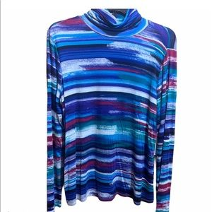 Investments Women's Striped Turtle Neck Top